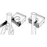 Toolflex Aluminiumskena 90cm med fem hållare