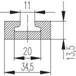 Skena Fyrkant 100cm